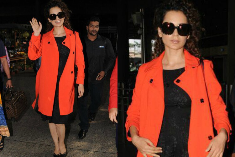 Kangana Ranaut's orange coat is the perfect (and affordable) choice for winter this year