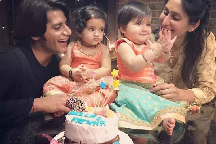 Inside pics from Karanvir Bohra's twins' first birthday bash