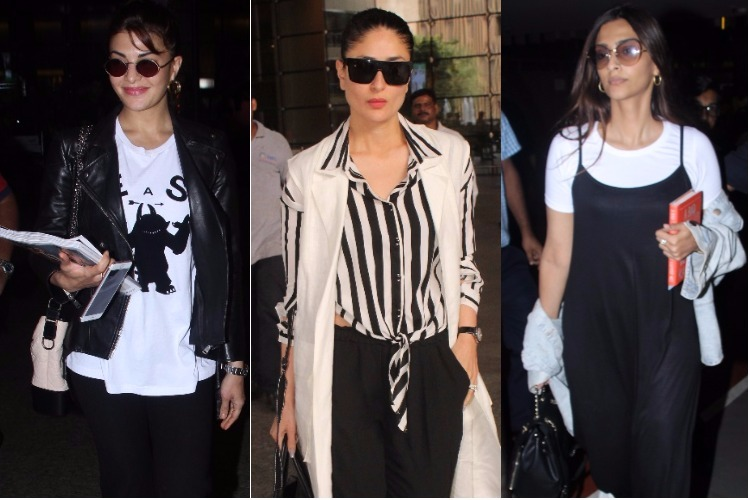 Kareena Kapoor, Jacqueline Fernandez or Sonam Kapoor: Whose airport look made you fall in love with the colour black?