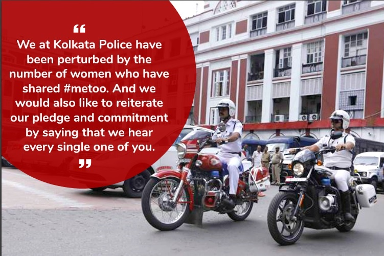 Kolkata Police comes out in support of #MeToo. Other authorities need to followsuit