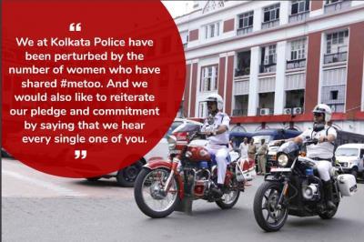Kolkata Police Me Too, #MeToo, #SoDoneChilling, #WeHearYou, sexual harassment