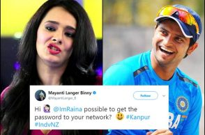 Mayanti Langer, Suresh Raina, India vs New Zealand 3rd ODI, Kanpur ODI, Mayanti Langer tweet, Mayanti Langer funnny tweets, Mayanti Langer trolled
