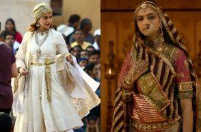 Kangana Ranaut as Rani Laxmibai, Deepika Padukone as Rani Padmavati