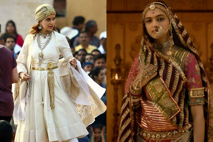 The look and feel of Kangana Ranaut's Rani Laxmibai and Deepika Padukone's Rani Padmavati are a study in contrast