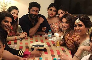 Inside Mouni Roy and Mohit Raina's Diwali celebrations
