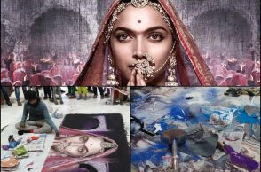Padmavati Rangoli destroyed