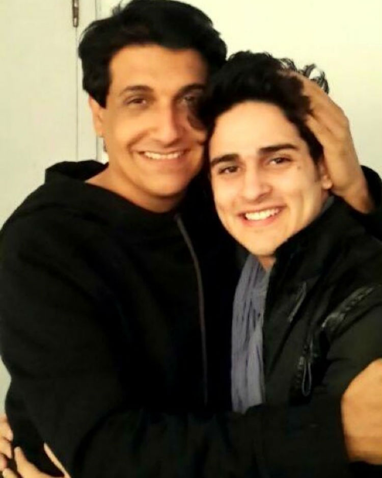 Priyank Sharma with Shiamak Davar
