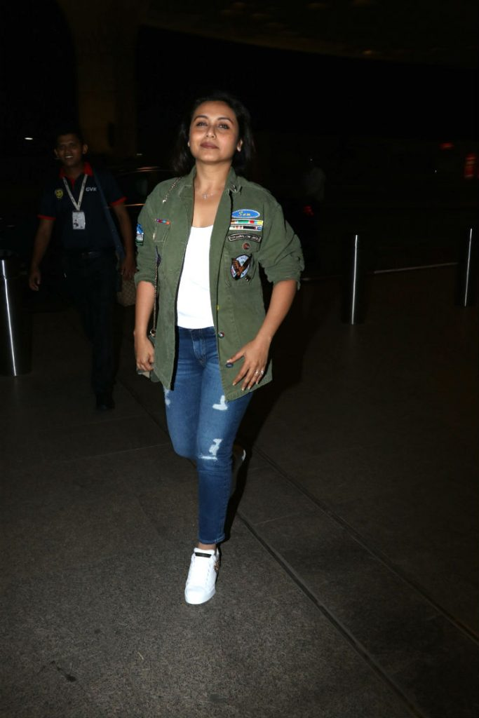 Rani Mukerji at the airport