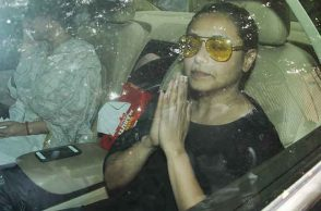 Rani Mukerjee's father's funeral