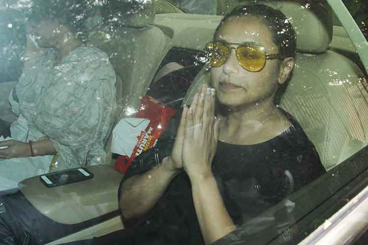 Celebs attend Rani Mukerjee's father's funeral