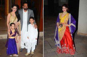 Celebs spotted at Sanjay Dutt's Diwali bash