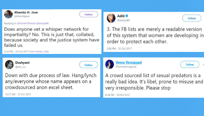 Sexual Harassers, Name And Shame List, Raya Sarkar, Twitter