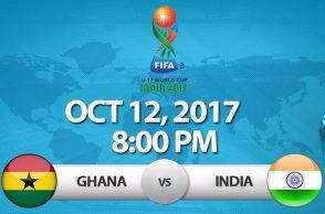 India vs Ghana FIFA Under 17 World Cup, India vs Ghana live streaming, FIFA Under 17 World Cup, Ghana vs India Live Streaming, live telecast, Jeakson Singh