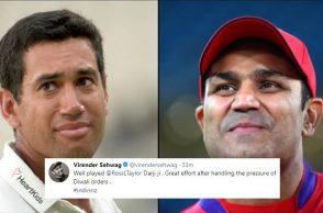 Ross Taylor, Virender Sehwag, Ross Taylor trolled, Virender Sehwag Twitter, Virender Sehwag trolls New Zealand, India vs New Zealand 1st ODI, IND vs NZ