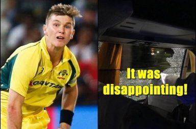 Adam Zampa, stone-pelting incident, India vs Australia Guwahati T20I, Australia's team bus attacked, Assam, Stone pelting Guwahati, Aaron FInch