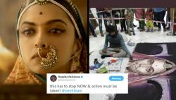 5 arrested for vandalising Padmavati rangoli after Deepika Padukone's tweets tagging Smriti Irani