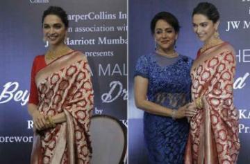 Deepika Padukone launches Hema Malini's biography