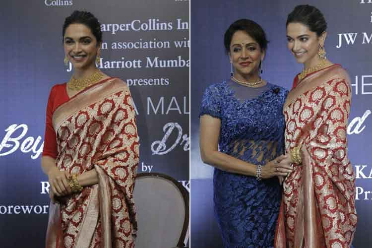 Deepika Padukone launches Hema Malini's biography