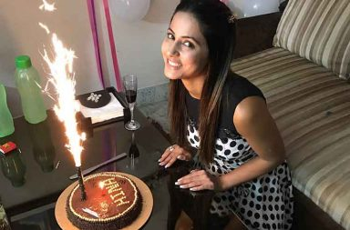 Hina Khan's pre-birthday celebration photo