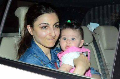 Soha Ali Khan and Kunal Khemu with daughter Inaaya photo