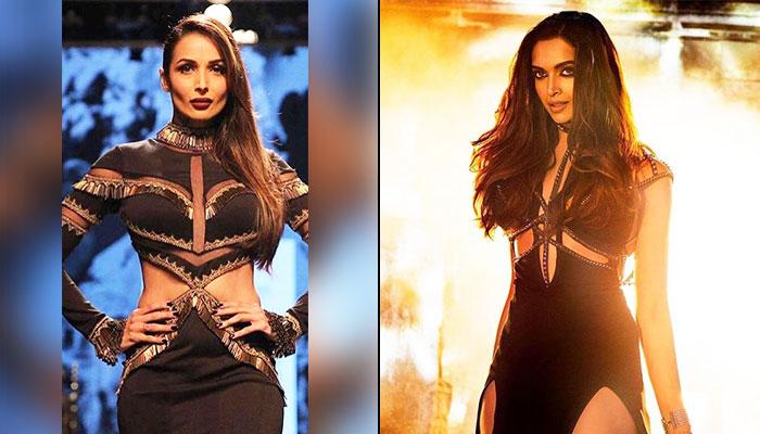 Malaika Arora, Deepika Padukone in black attires