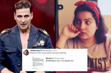 Mallika Dua, Akshay Kumar, The Great Indian Laughter Challenge | Photo created for InUth.com