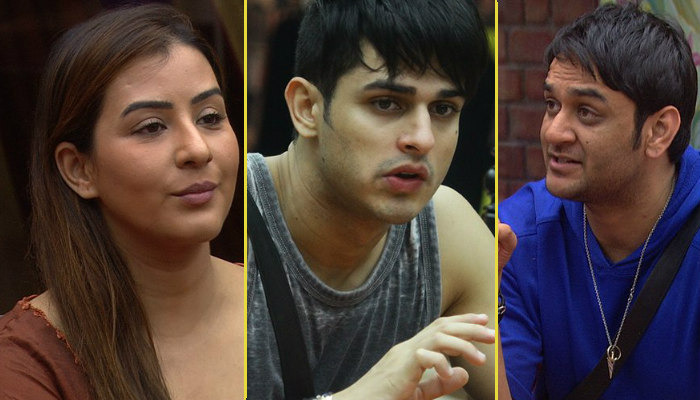 Priyank Sharma, Shilpa Shinde and Vikas Gupta in Bigg Boss 11, inuth.com