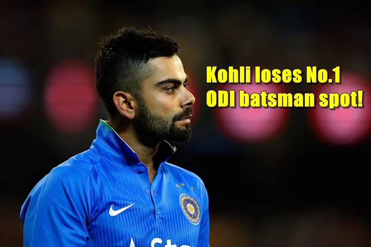 Virat Kohli loses the top spot in ICC ODI batsman rankings to RCB teammate AB de Villiers