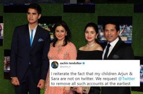 Sachin Tendulkar appeals Twitter to remove all fake accounts of Arjun and Sara Tendulkar