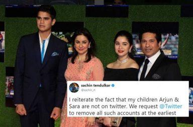 Sachin Tendulkar appeals Twitter to remove all fake accounts of Arjun and Sara Tendulkar