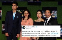 Sachin Tendulkar requests Twitter to remove all fake accounts of Arjun and Sara Tendulkar