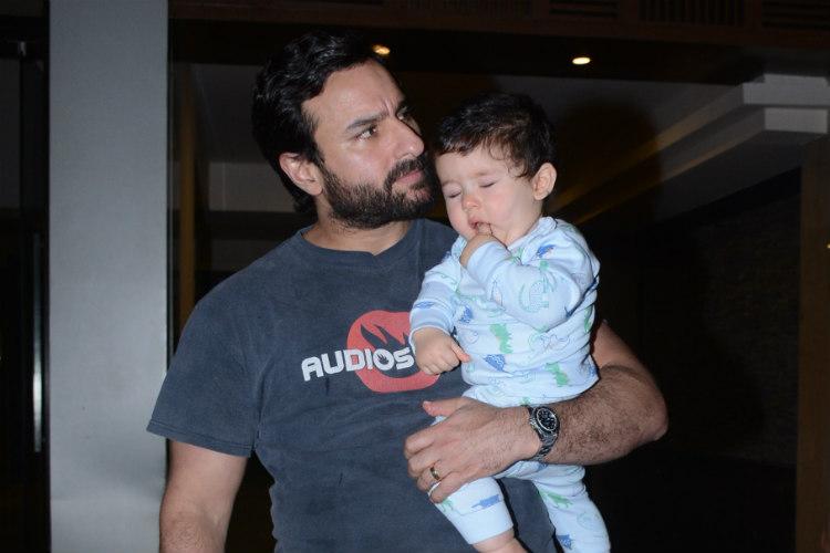 Taimur Ali Khan with daddy Saif Ali Khan