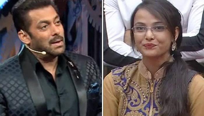 Salman Khan and Jyoti Kumari in Bigg Boss 11