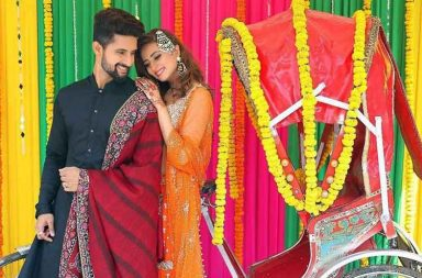 Sargun Mehta at her brother's wedding photo