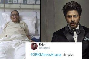 Shah Rukh Khan, Aruna, SRK MeetsAruna, inuth.com