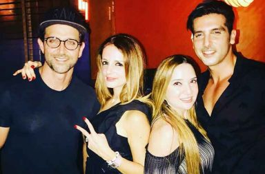 Sussanne Khan celebrates birthday with Hrithik Roshan