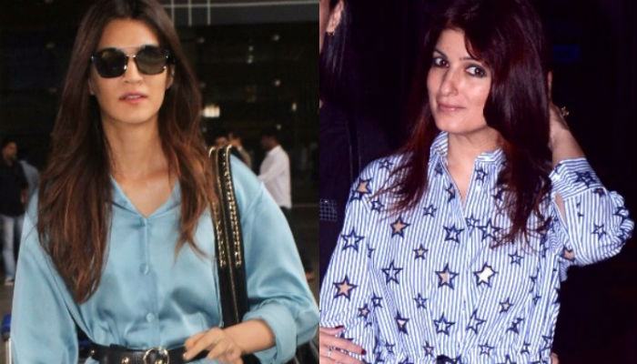Kriti Sanon vs Twinkle Khanna: Who wore a night dress better in public?