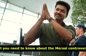 Vijay in a still from Mersal, inuth.com