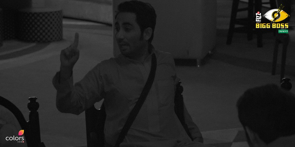 A still from Zubair's fight with Puneesh in Bigg Boss 11