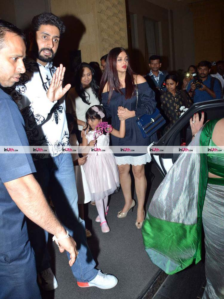Abhishek Bachchan with Aishwarya and Aaradhya