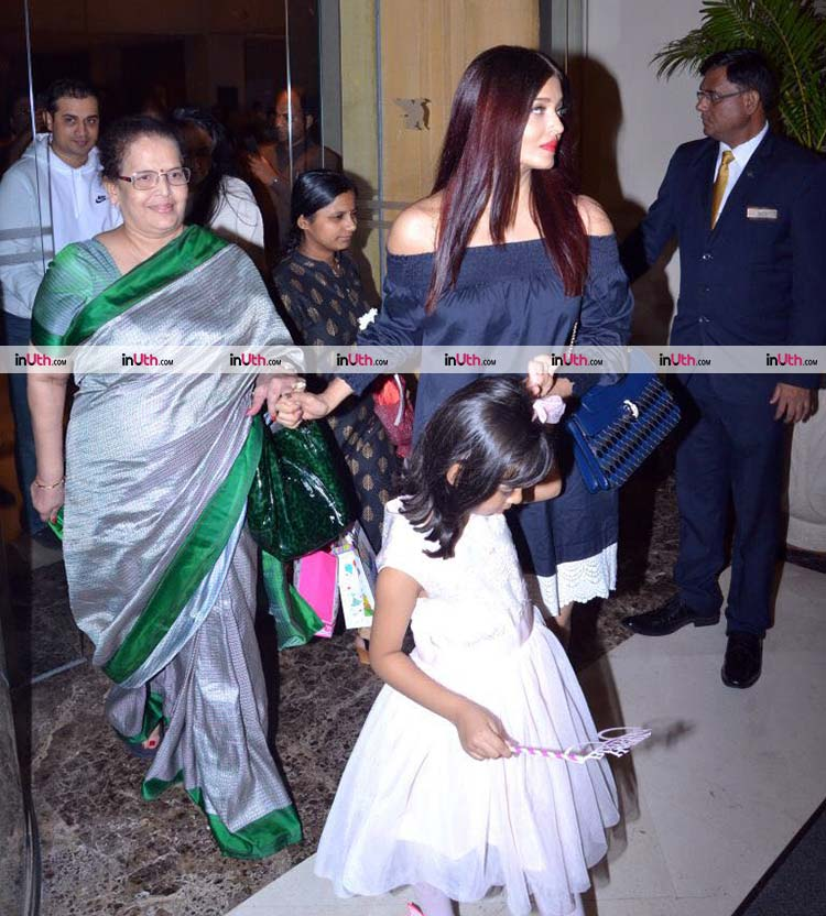 Aishwarya Rai with her mother Brinda Rai