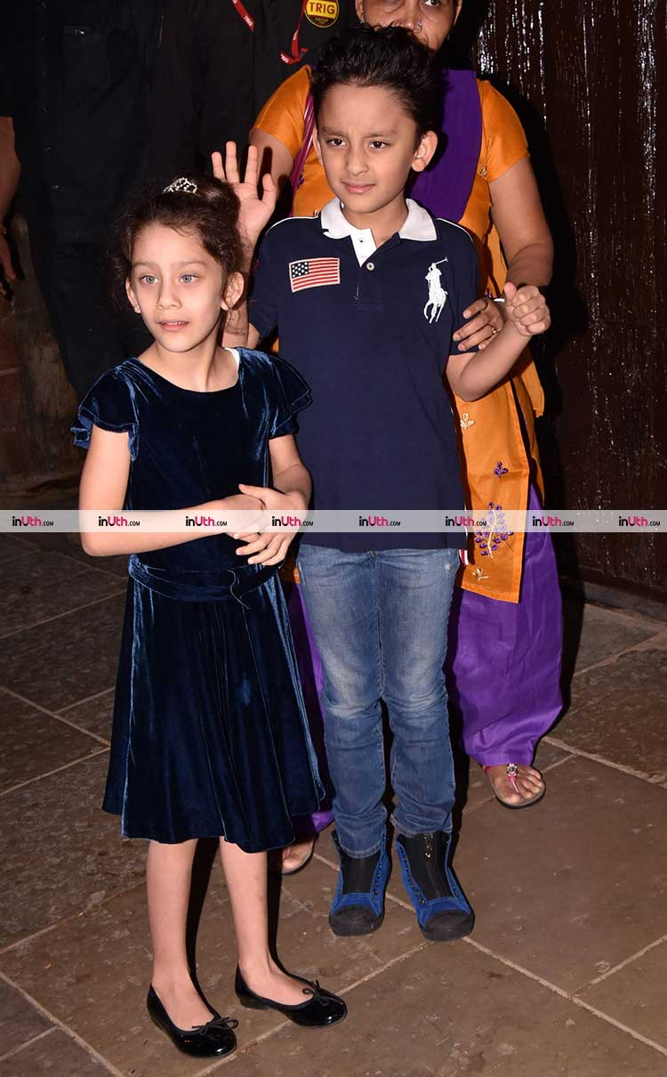 Sanjay Dutt's kids at Aaradhya Bachchan's birthday party