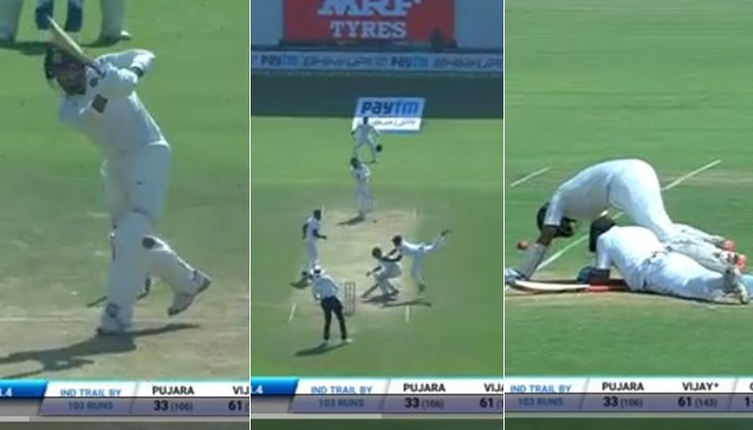 Murali Vijay dropped by Dilruwan Perera, goes on to score 128. Could this be the series-changing moment? — WATCH
