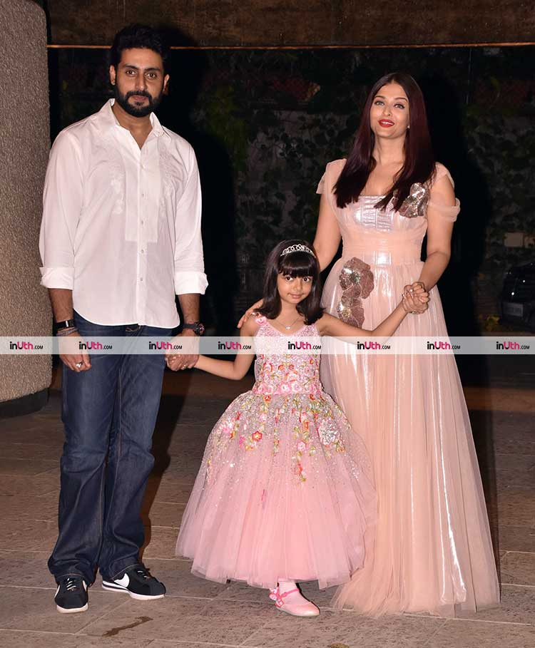 Abhishek Bachchan and Aishwarya Rai with birthday girl Aaradhya
