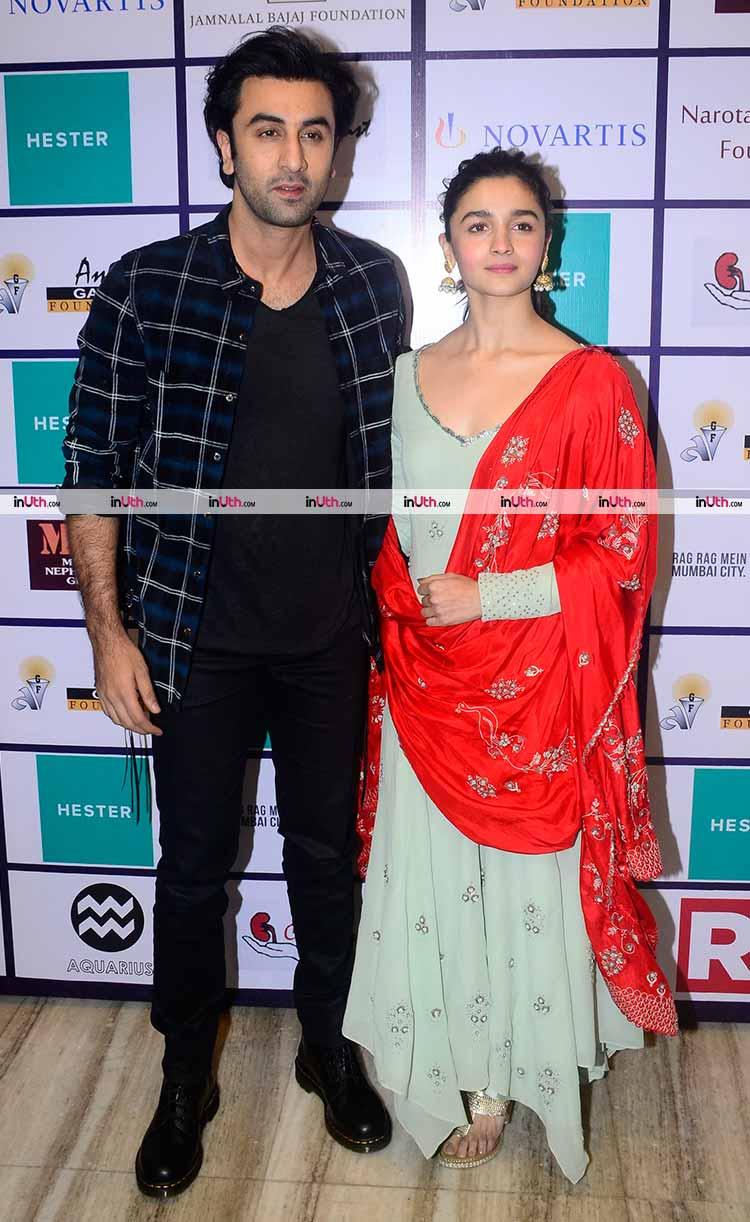 Brahmastra lead cast Alia Bhatt and Ranbir Kapoor at an Organ Donation Camp