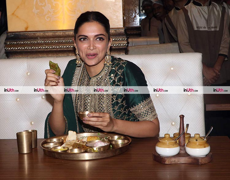 Deepika Padukone feasts on a Rajasthani Thali to celebrate Padmaavat success