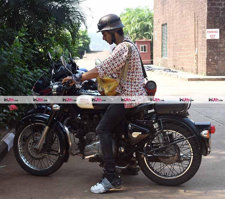 Ishaan Khatter enjoy a bullet ride in Goa