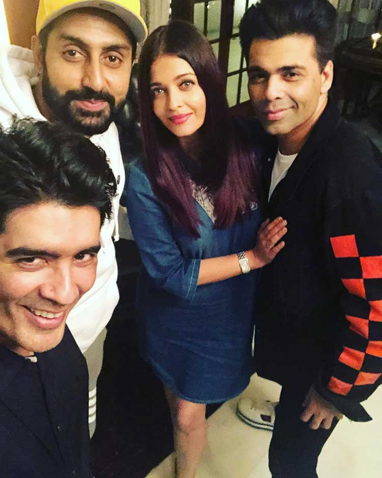 Manish Malhotra with his guests for the night