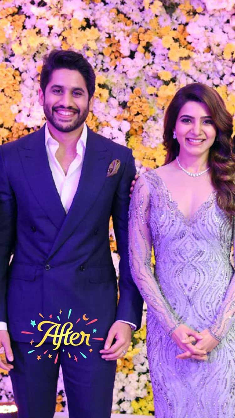 Samantha Ruth Prabhu And Naga Chaitanya Wedding Reception Photos