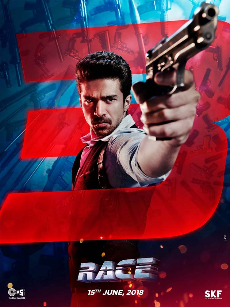 Saqib Saleem plays the 'angry young man' Sooraj in Race 3